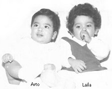 Arto and Laila as babies, born 10 months apart