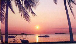 Sunset scene in Menado, South Sulawesi